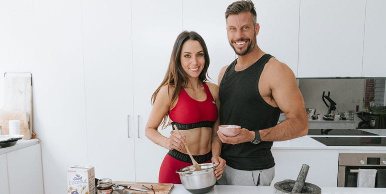 sam & snez wood eating before a workout
