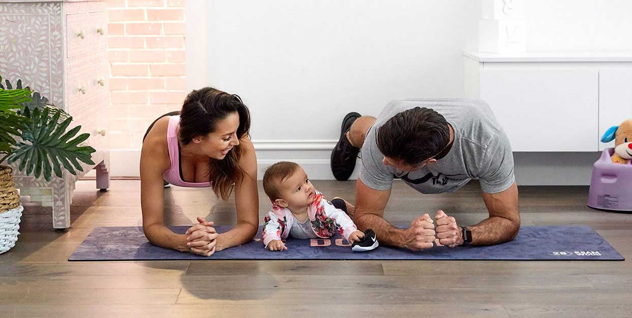 how to workout with your baby at home